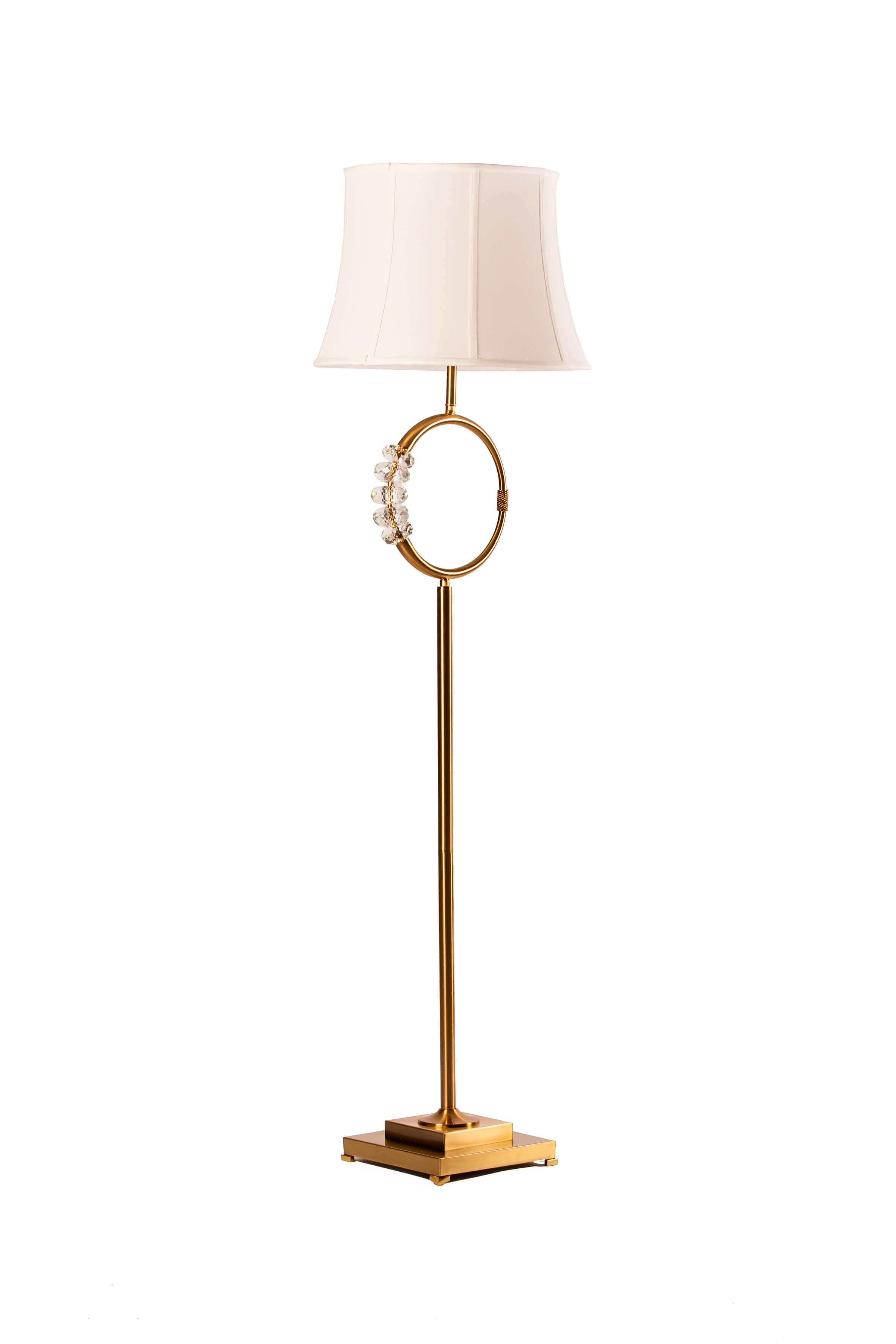 Lampadaire laiton et décorations en verre - ZY-3183FL