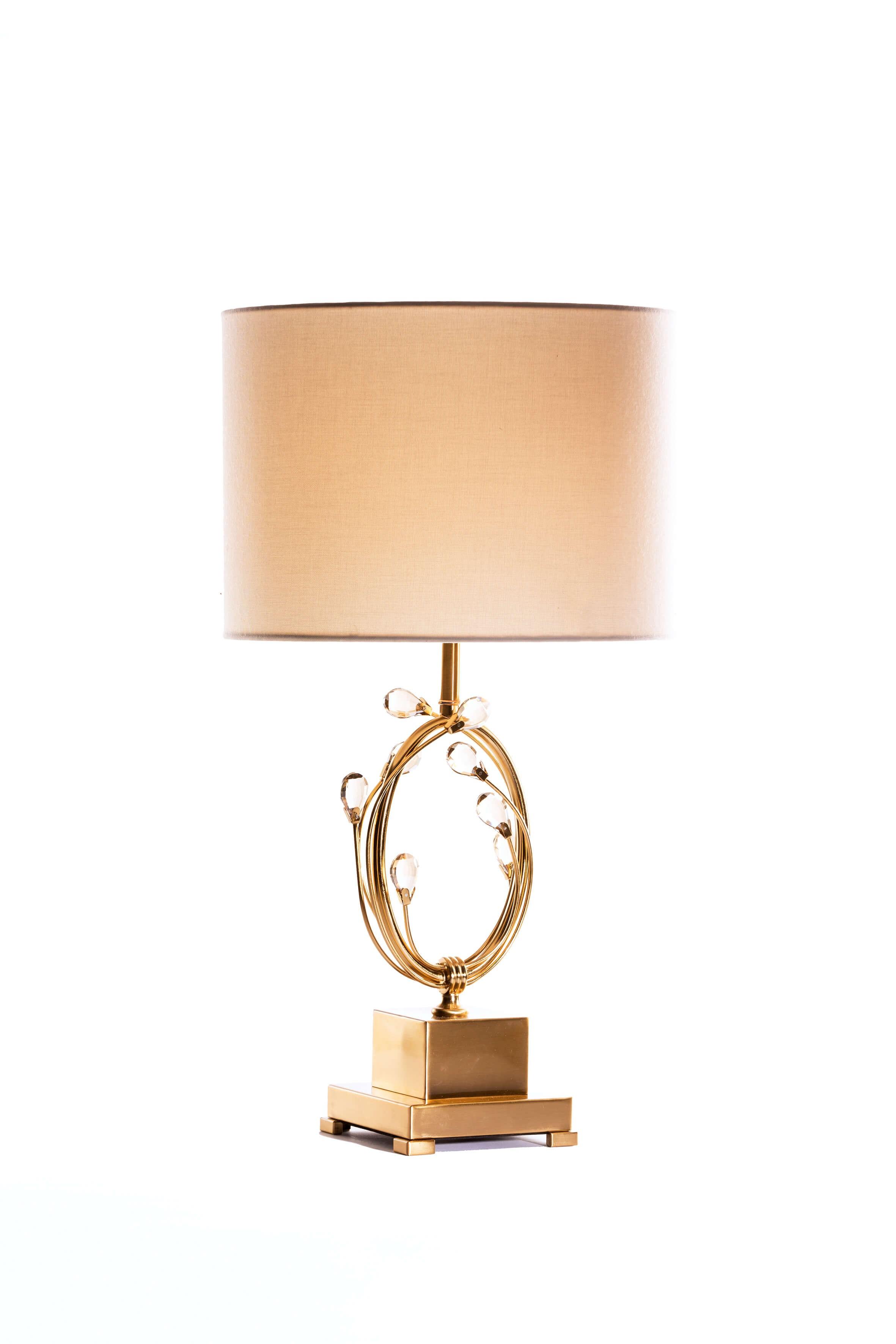 Lampe de chevet en laiton et décorations en verre - ZY-3198TL