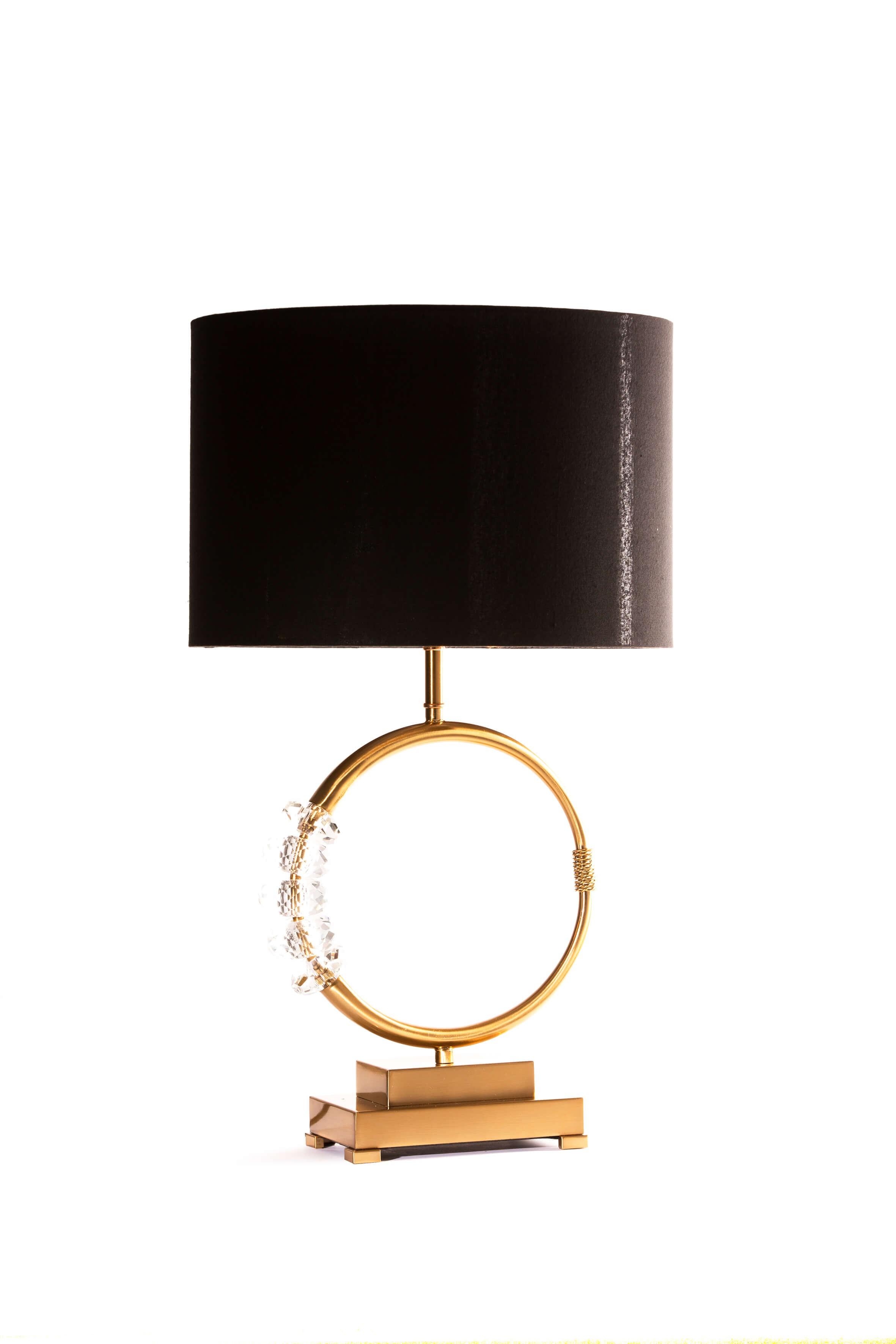 Lampe de chevet en laiton et décorations en verre - ZY-3183TL