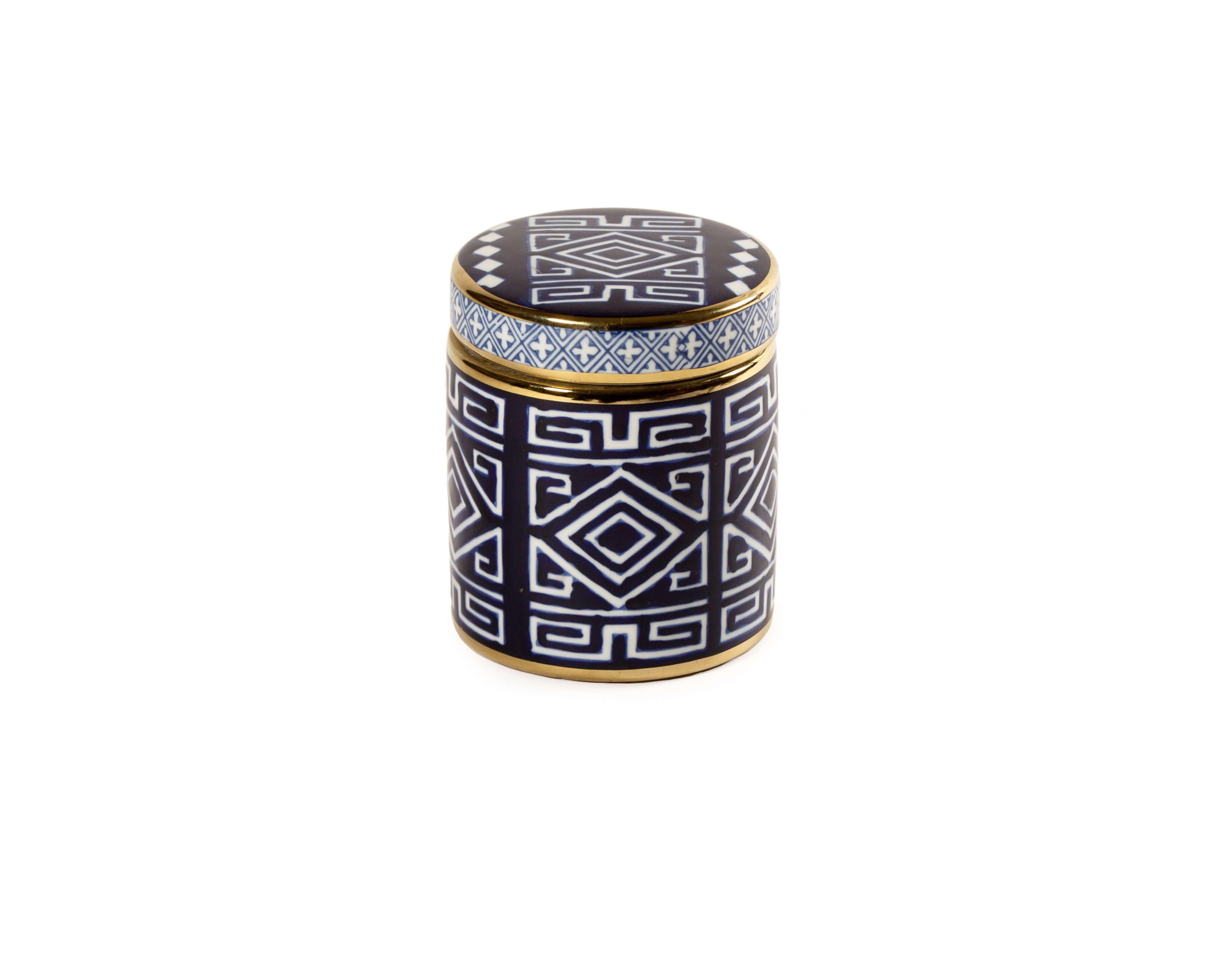 Boite à mouchoirs en porcelaine et métal doré - IGB1509-5