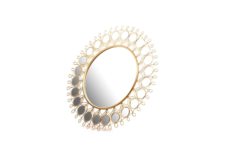 Miroir en métal doré - TB2516-1