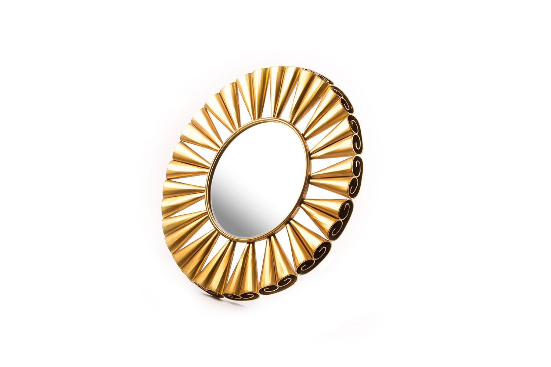 Miroir en métal doré - TB2886-2