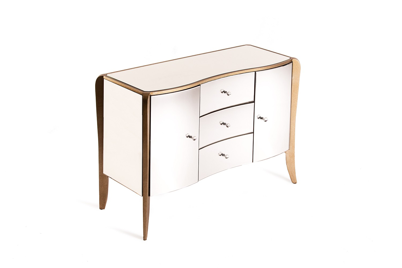 Commode en bois et miroir - LD6593